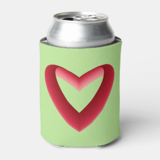 Red Gradient Heart Can Cooler