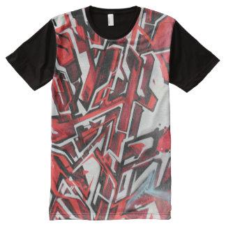 Red Graffiti Abstract Art Shirt