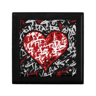 Red graffiti hart gift box