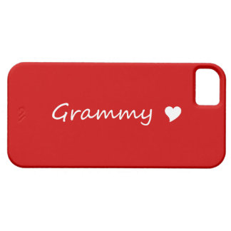 Red Grammy With Heart Case For The iPhone 5
