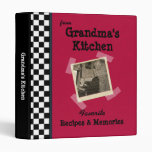 "Red Grandmas Kitchen 1"" Custom Photo Recipe Binder"