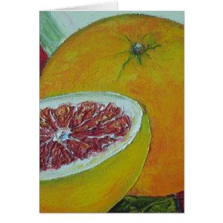Red Grapefruit Greeting Card