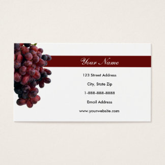 Red Grapes Business Cards