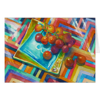 """""""Red Grapes"""" Card"""