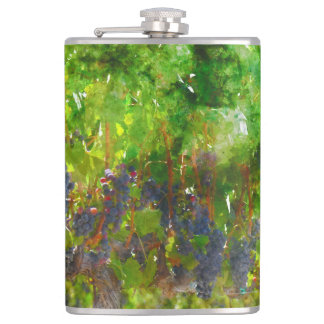 Red Grapes on the Vine Flasks