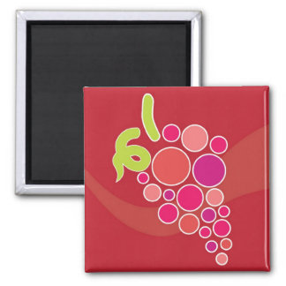 Red Grapes Square Magnet
