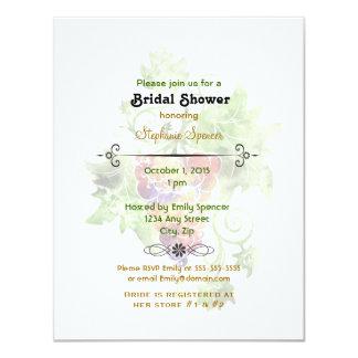 Red Grapes Watercolor Bridal Shower Invitation