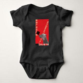 RED GRAPHIC WEIM BABY BODYSUIT BLACK BY BLU WEIM