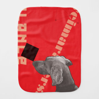 RED GRAPHIC WEIM BABY BURP CLOTH BY BLU WEIM
