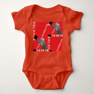 RED GRAPHIC WEIM BABY JERSEY BODYSUIT BY BLU WEIM