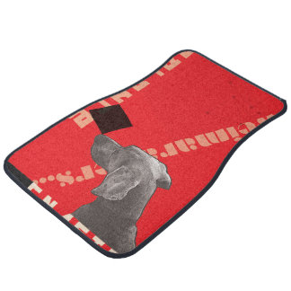 RED GRAPHIC WEIM CAR MATS FRONT SET OF 2