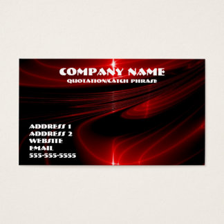 Red graphics business card