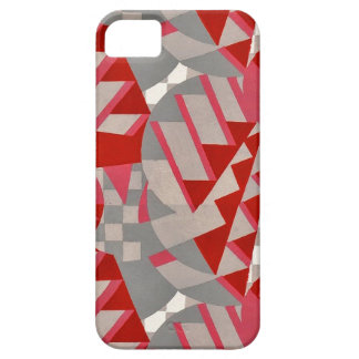 Red / gray 1920s Deco design iPhone 5 Covers