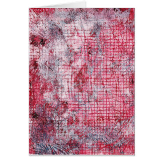 Red Gray Abstract Monoprint 170301 Greeting Card