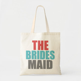 "Red, Gray & Blue ""The Brides Maid Wedding Bag"