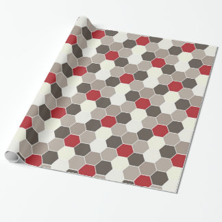 Red & Gray Geometric Wrapping Paper
