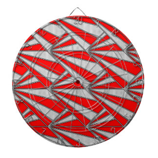 red gray graphic pattern dartboard