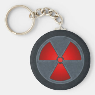 Red & Gray Radiation Symbol Keychain