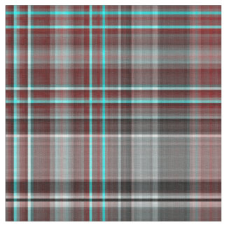 Red, Gray & Teal Plaid Fabric