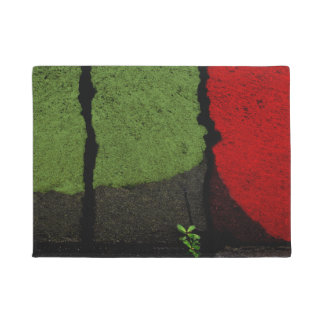 Red & Green Abstract Photograph Cool Unique Doormat
