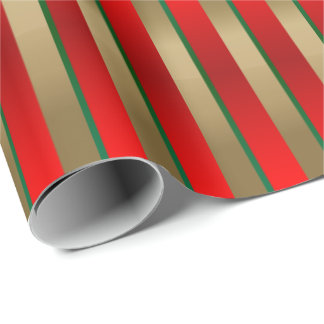 Red, Green and Gold Christmas Stripes