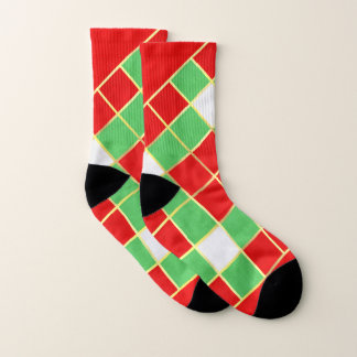 Red, Green, and Gold diamond design Christmas 1