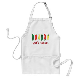 Red Green and Yellow Hot Salsa Chili Peppers Standard Apron