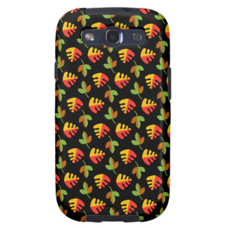 Red Green and Yellow Leaves Pattern Galaxy SIII Cases