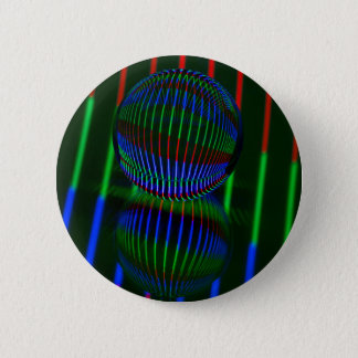 Red,Green, blue in the crystal ball 2 Inch Round Button