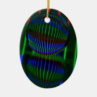 Red,Green, blue in the crystal ball Ceramic Ornament