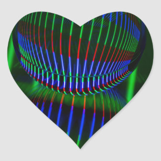 Red,Green, blue in the crystal ball Heart Sticker