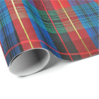 Red, Green, Blue Tartan Plaid Gift Wrap
