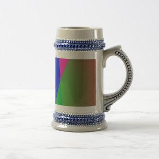 Red Green Blue Vivid Abstract Art Mug