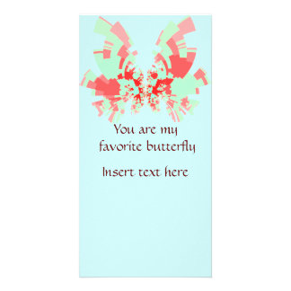 red-green butterfly custom photo card