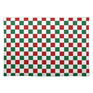 Red Green Checks Placemat