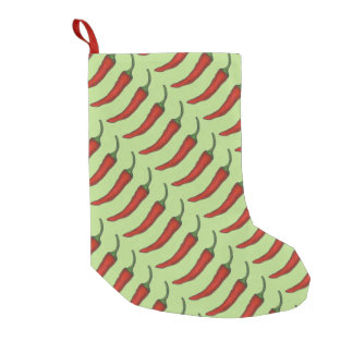 Red Green Christmas Chile Chili Pepper Stocking