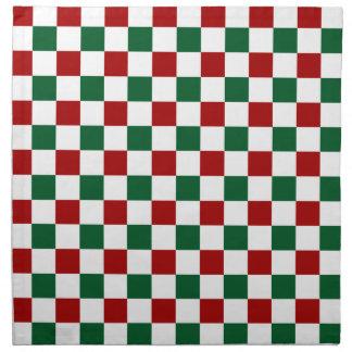 Red Green Christmas Cloth Napkins