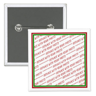 Red & Green (Christmas Colors) Trimmed Template Pinback Button