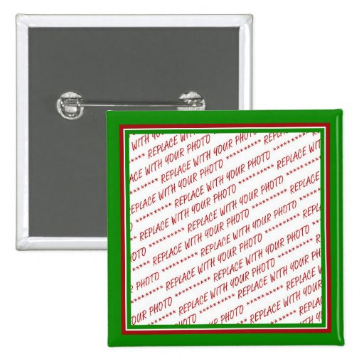 Red & Green (Christmas Colors) Trimmed Template Pinback Buttons