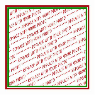Red & Green (Christmas Colors) Trimmed Template Photo Cutout
