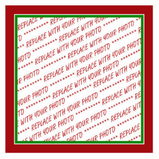 Red & Green (Christmas Colors) Trimmed Template Cut Outs