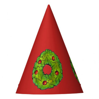 Red Green Christmas Cookie Holly Berry Wreath Xmas Party Hat