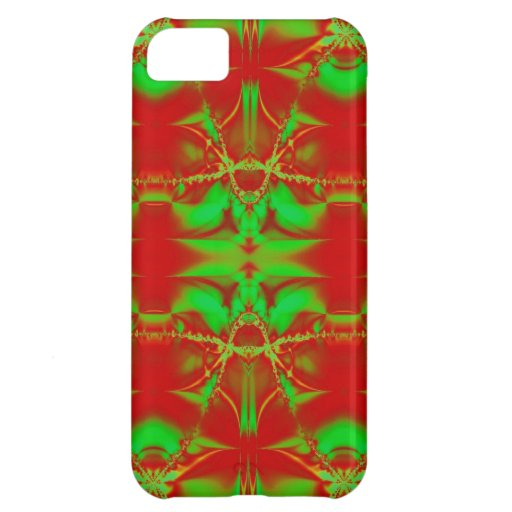 Red Green Christmas Fractal iPhone 5C Covers