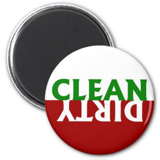 Red Green Clean Dirty Dishwasher Magnet