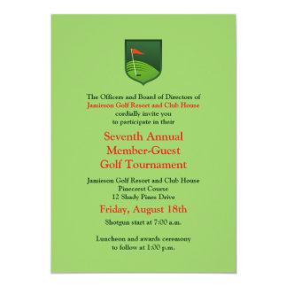 Red Green Corporate Golf Tournament Invitation