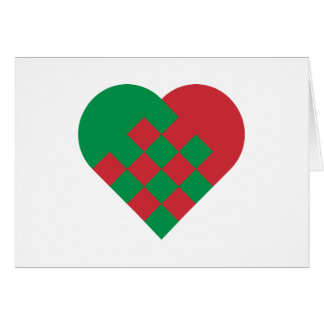Red Green Danish Heart Note Card