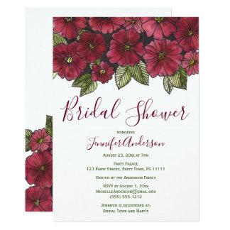 Red Green Floral Bridal Shower Card