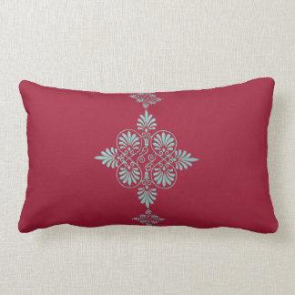 Red Green Greek Pattern Decorative Greco-Roman Lumbar Pillow