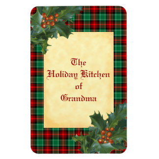 Red Green Holiday Plaid Custom Magnet