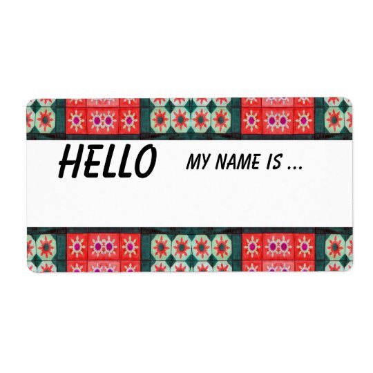 Red Green Name Badge